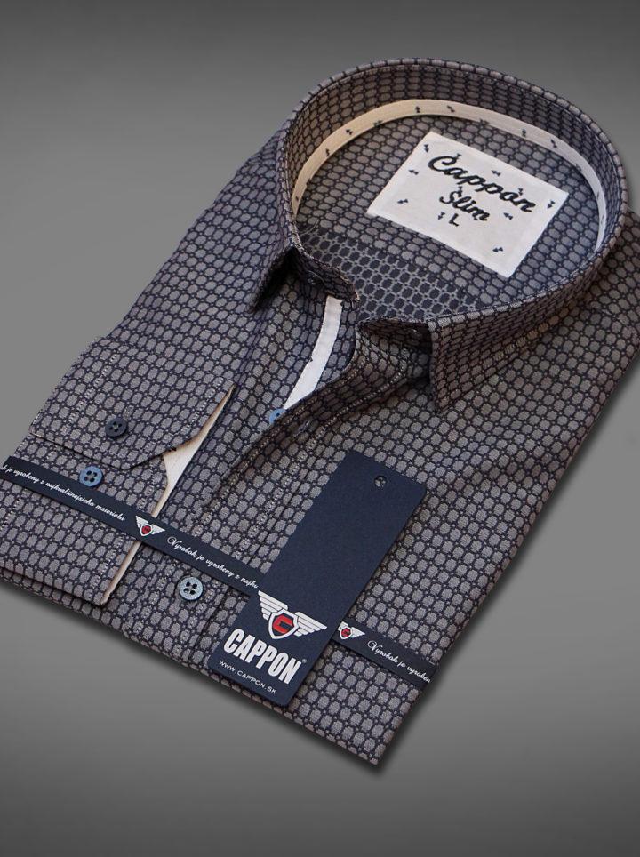 Pánská košile SOYAL4007 3 BLACK SLIM FIT  a49471a051